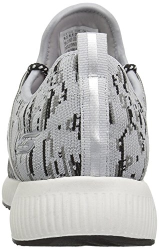 Skechers Bobs Squad-Double Dare, Baskets Enfiler Femme Gray Black