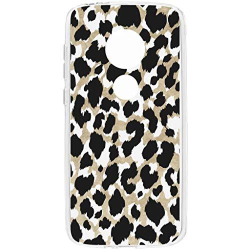 hCase Motorola Moto E5/G6 Play Hülle Silikon - Leopard, Wildkatze, Tiermuster - Soft Case Handyhülle