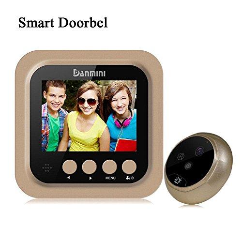 Lifesongs porta video campanello, campanello video con monitor pir peephole viewer telecamera wifi da 160 gradi 2.0 megapixel visore notturno a infrarossi campanello wireless wifi antifurto