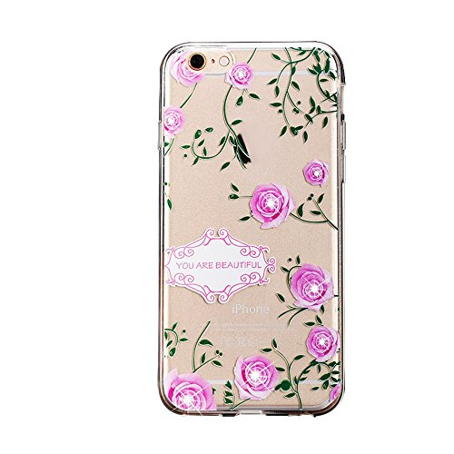 iPhone 7 Plus Coque Crystal Bling Bling,iPhone 7 Plus Silicone Case Slim Soft Gel Cover,iPhone 7 Plus Coque Silicone,iPhone 7 Plus Coque Transparente,iPhone 7 Plus Coque Ultra-Mince Etui Housse avec B TPU 66