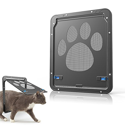 Namsan Haustierklappe Hundeklappen Katzenklappe für Fliegengittertür Installieren Leicht mit Abschließbar Robust 29cm x 24cm