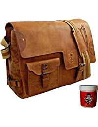 BARON of MALTZAHN Shoulder bag JEFFERSON of brown Rodeo-leather + leather care