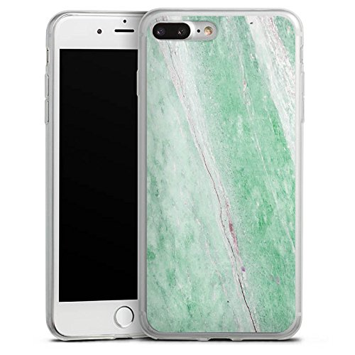 Apple iPhone 8 Slim Case Silikon Hülle Schutzhülle Marmor Grün Marble Trend Silikon Slim Case transparent