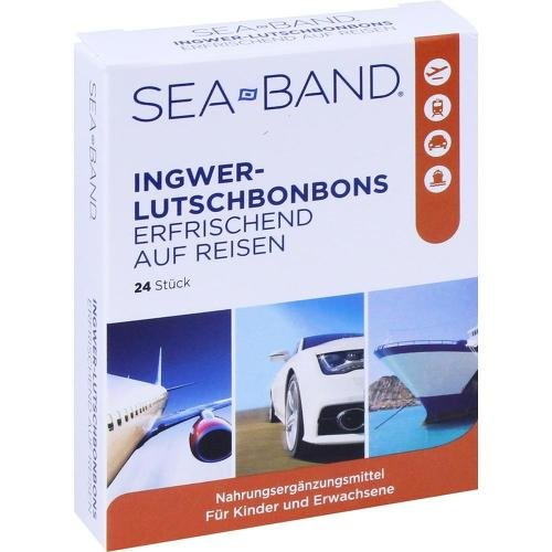 SEA-BAND Ingwer-Lutschbonbons 24 St Bonbons (Ingwer-band)