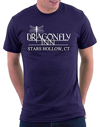 (Million Nation Gilmore Girls Dragonfly Inn T-shirt, Größe M, Navy)