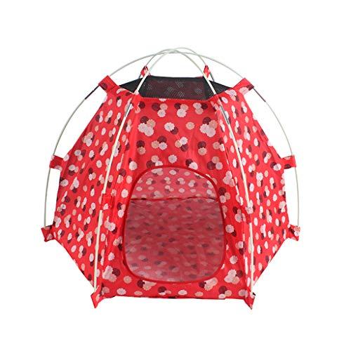 Pet Teepee Dog Cat Bed - A Prueba de Lluvia, Protector Solar-...
