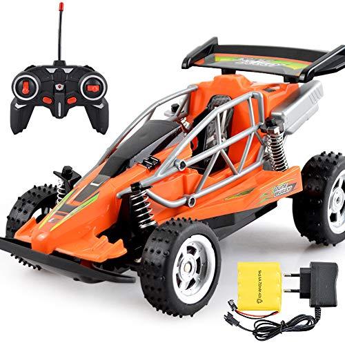 ZXYWW RC-Car, Robustes Ferngesteuertes Geländewagen, Ferngesteuertes Fahrzeug Mit Funkfernsteuerung, Elektrisches Spielzeug Mit Allradantrieb,Orange
