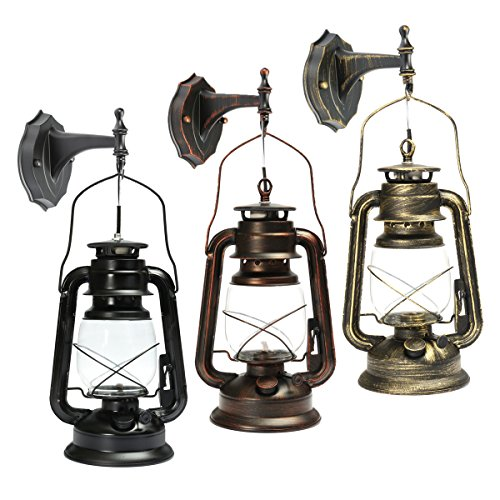 MASUNN Vintage Retro De Segunda Mano De La Lámpara De Pared Montaje Farol Luces Europeas - Verde