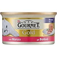 Gourmet Gold Mousse per il Gatto, con Manzo, 85 g - Confezione da 24 Pezzi