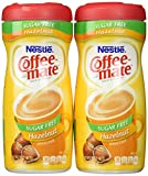Coffee-Mate, Sugar Free Hazelnut, Powdered Coffee Creamer, 10.2oz Canister (Pack of 2)