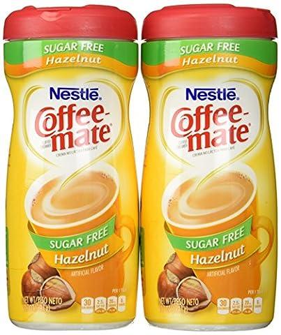 Coffee-Mate, Sugar Free Hazelnut, Powdered Coffee Creamer, 10.2oz Canister (Pack