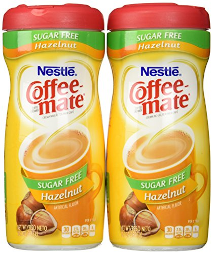 Coffee-Mate, Sugar Free Hazelnut, Powdered Coffee Creamer, 10.2oz Canister (Pack of 2) by Coffee-Mate -