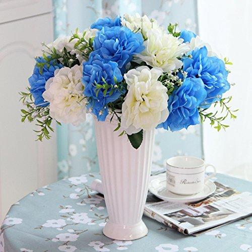 SDN2-continentale di emulazione kit fiori fiori artificiali soggiorno, decorazioni floreali della seta ornamenti floreali Uniteds ceramica pentola globale arti floreali , viola il deadlock