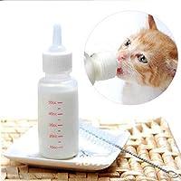 yosoo 50ml Neugeborene Pet Kleine Hunde Welpen Katze Kätzchen Kitty Rabbit Milch Krankenpflege Pup Milch Fläschchen Nippel Pinsel Set Milch Feeder