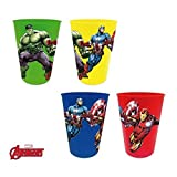 Hasbro Suncity AVD102087–Set di 4Bicchieri in plastica dei The Avengers