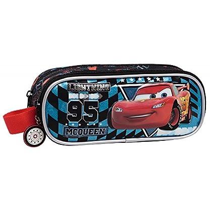 Estuche pongotodo 2 compartimientos Cars Glitter (23x9x7 cm)