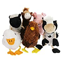 The Puppet Company - Finger Puppets - Farm Animals Set of 6