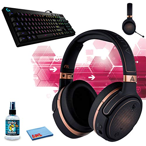 Audeze Mobius Planar Magnetic Gaming Headset (blau) GameSir GK300 Wireless Mechanical Gaming Tastatur (weiß) Kopfhörer-Reinigungsset Gaming Copper + RGB KB Bundle (Video-recorder Bundle)