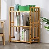 ZWJLIZI Küchenablage Regal Regalregal Ablagefach Household Bamboo 3. Etage (größe : 55CM)