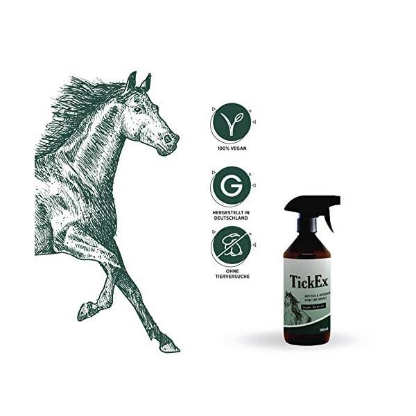 Flea and ticks repellent spray by TickEx | Flea treatment for cats, dogs & horses | Tick remover & flea spray 100ml | Flea treatment for the home 4