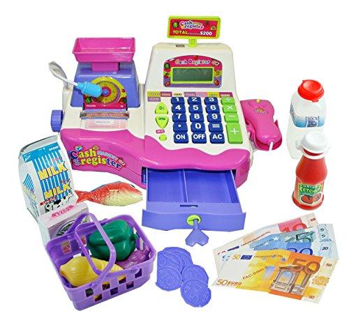 Spielzeugkasse für Kinder - Kasse für Kaufmannsladen - Rosa
