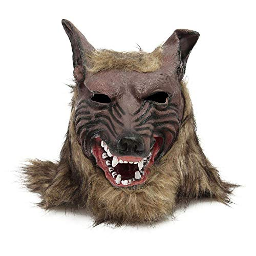 Circlefly Halloween Horror Wolf Kopfmaske Make-up Party Bar Dekoration Wolfskopf Maske ()