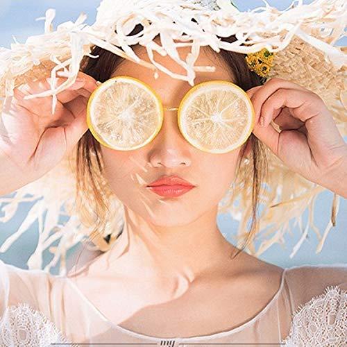 VIWIV Zitronengläser Kreative DIY Strandhochzeit Studio Fotografie Foto Lustige Sonnenbrille Gläser Szene Objekte,Yellow