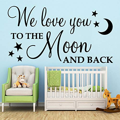 kyprx Wandtattoo Wohnzimmer Removable Für Baby Kinderzimmer Decor Art Decor Wallpaper grau XL 58cm X 106cm -