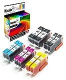 Koala Druckerpatronen kompatibel für Canon PGI-520 CLI-521 für Canon Pixma IP-3600 IP-4600 IP-4600-X IP-4700 MP-540 MP-550 MP-560 MP-620 MP-630 MP-640 MP-640-R MP-980 MP-990 2*BK 2*PBK 2*C 2*M 2*Y