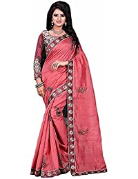 G Stuff Fashion Women Bhagalpuri silk Saree with Blouse piece_SE_madhuri_Pink