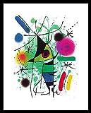 Joan Miro der singende Fisch Poster Kunstdruck Bild mit Alu Rahmen in Champagne
