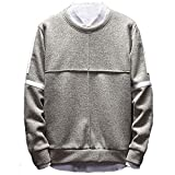 BaZhaHei Herren Langarmshirt 2018 Herren Long Sleeved Sweater Rundhalsausschnitt lose Bodenbildung T-Shirt Rundhals Lose Bodenbildung T-Shirt
