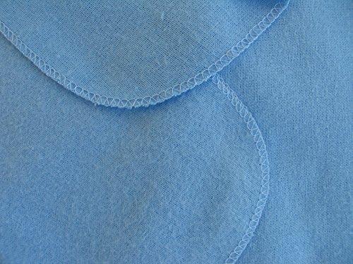 Moltontücher | Baumwolltücher - 5er Pack | 80x80 cm - blau | Schadstoffgeprüft - Öko-Tex Standard 100 | kochfest bei 95° C | Spucktücher | Flanelltücher für Ihr Baby | Ausgefallene Geschenk zur Geburt