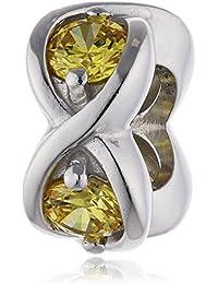Endless 41400-5 - Abalorio de plata con circonita