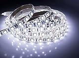 quntis® Impermeabile LED Band 5m Bianco freddo 5050SMD ad alta densità 300LED striscia luce + alimentazione (12V 6a) con spina EU, IP 65
