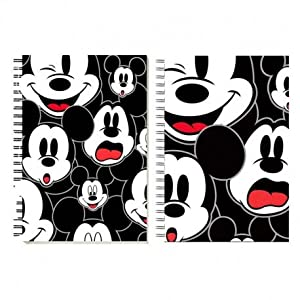 Mickey Mouse- Visages Bloc de Notas, Color Negro (Karactermanía 35080)