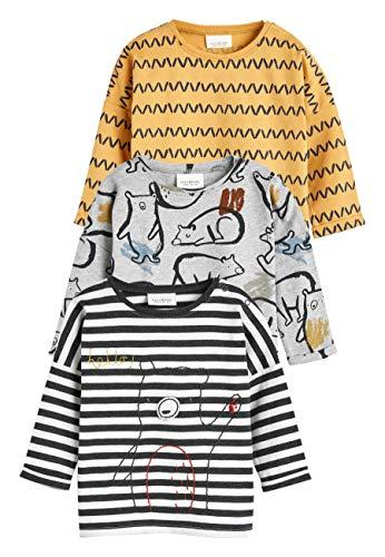 next Baby - Jungen Bär-T-Shirts im 3er-Pack Ocker 3-6 Monate