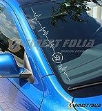 'VW Star Herzschlag' Frontscheibenaufkleber von Finest-Folia Tuning Shocker JDM Sticker Folie