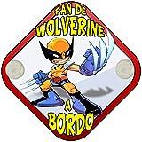 Placa bebé a bordo fan de Wolverine Lobezno a bordo