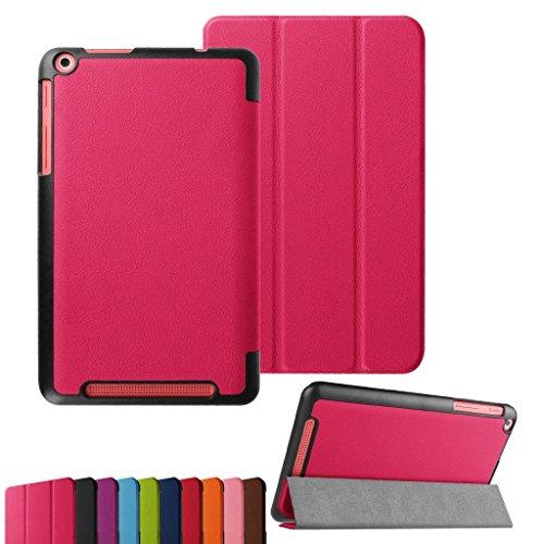 Bestdeal® Hohe Qualität Prämie Ultra Schlank Leicht Smart Cover Tasche Stehe Hülle für Acer Iconia One 8 B1-820 / B1-830 8.0 zoll Tablet PC + Stylus Stift (Rosa)