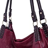 IN ANGEL Handbags Women Shoulder Bags Large Crossbody Hobo Bags Ladies PU Leather Bags Tote Handbags for Women (L31CM * W15CM * H28CM) Red Brown