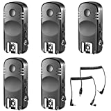 Neewer 5-Pack 2.4GHz 7-Channel Wireless Remote Flash Trigger Transceivers with N1 and N3