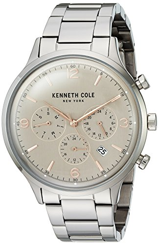 Kenneth Cole New York Men's Quartz Stainless Steel Casual Watch, Color:Grey (Model: KC15177005) image