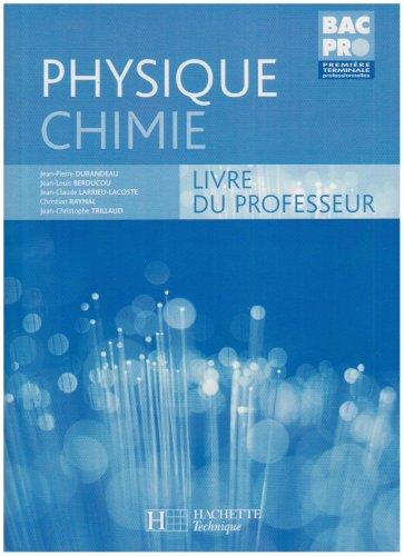 Physique Chimie : Livre du professeur