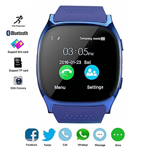 Smart Watch für Android, DXABLE SmartWatch Unterstützung SIM / TF Watch Armbanduhr mit Kamera Musik Player Facebook WhatsApp Sync SMS Smartwatch Compatible für iPhone 7 8 7 Plus 6 Samsung S8 Android oder iOS System