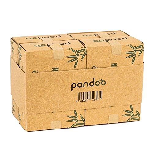 pandoo 4er Pack Bambus Wattestäbchen mit großem Sicherheitskopf | biologisch abbaubar, vegan & nachhaltig - 5