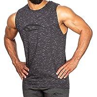 SMILODOX Tank Top Straight Herren 'Straight' | Kurzarm | Casual Top | Funktionstank für Sport Fitness Gym & Training | Trainingsshirt - Lauftop - Sporttank mit großem Logo auf der Brust