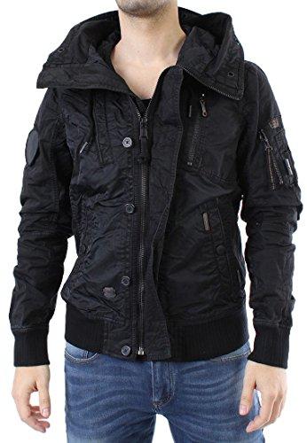 Khujo veste pour homme black cONTRAST fABRIC bEAM Noir - Noir