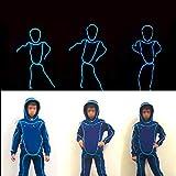 WSXX Fluoreszierende Tanz-Leistungs-Kleidung EL-Kaltlicht-Kinder, geführte helle Kleidung, leuchtende Tanz-Leistung-Stützen-Neonlichter
