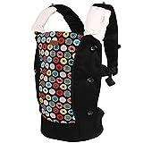 Bebamour Cotton Baby Carrier Backpack 2 in 1 Comfort Baby Sling Wrap (Black) - bebear - amazon.co.uk